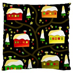 Winter  Night  Large Cushion Case (one Side) by Valentinaart