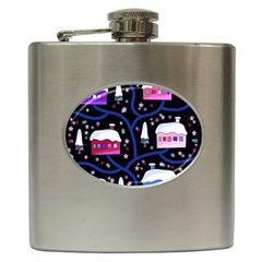 Magical Xmas Night Hip Flask (6 Oz) by Valentinaart