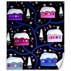 Magical Xmas Night Canvas 8  X 10  by Valentinaart