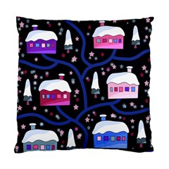 Magical Xmas Night Standard Cushion Case (two Sides) by Valentinaart