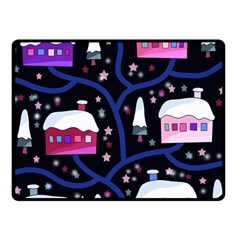 Magical Xmas Night Fleece Blanket (small) by Valentinaart