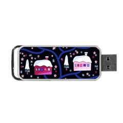 Magical Xmas Night Portable Usb Flash (two Sides) by Valentinaart