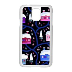 Magical Xmas Night Samsung Galaxy S5 Case (white) by Valentinaart