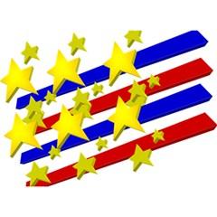 Flag Ransparent Cartoon American Birthday Cake 3d Greeting Card (7x5) by Onesevenart