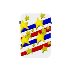 Flag Ransparent Cartoon American Apple Ipad Mini Protective Soft Cases by Onesevenart