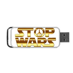 Stop Wars Portable Usb Flash (two Sides) by Onesevenart