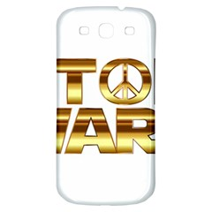 Stop Wars Samsung Galaxy S3 S Iii Classic Hardshell Back Case by Onesevenart