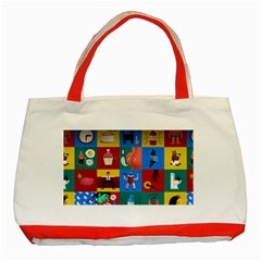 The Oxford Dictionary Illustrated Classic Tote Bag (red) by Onesevenart