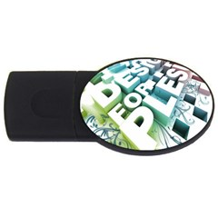 Design For Plesure Usb Flash Drive Oval (4 Gb)  by Onesevenart