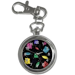 Colorful Floral Design Key Chain Watches by Valentinaart