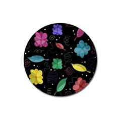 Colorful Floral Design Magnet 3  (round) by Valentinaart