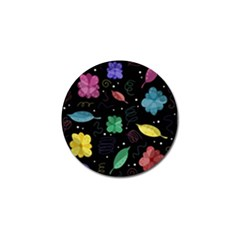 Colorful Floral Design Golf Ball Marker (10 Pack) by Valentinaart