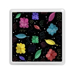Colorful Floral Design Memory Card Reader (square)  by Valentinaart