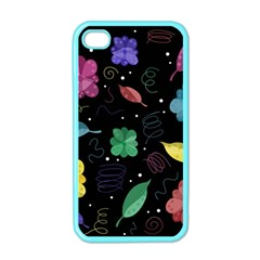 Colorful Floral Design Apple Iphone 4 Case (color) by Valentinaart