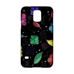Colorful floral design Samsung Galaxy S5 Hardshell Case  by Valentinaart