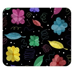 Colorful Floral Design Double Sided Flano Blanket (small)  by Valentinaart
