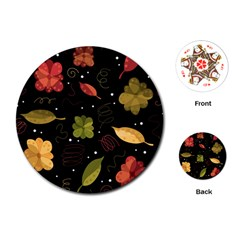 Autumn Flowers  Playing Cards (round)  by Valentinaart