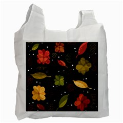 Autumn Flowers  Recycle Bag (one Side) by Valentinaart