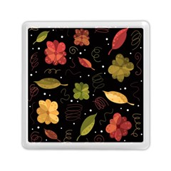Autumn Flowers  Memory Card Reader (square)  by Valentinaart