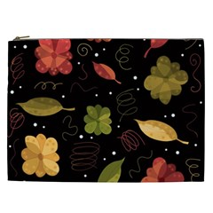 Autumn Flowers  Cosmetic Bag (xxl)  by Valentinaart