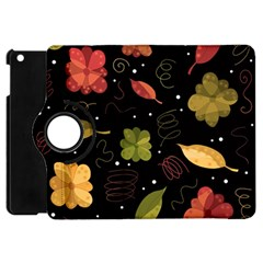Autumn Flowers  Apple Ipad Mini Flip 360 Case by Valentinaart