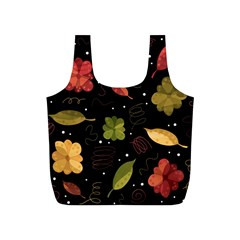 Autumn Flowers  Full Print Recycle Bags (s)  by Valentinaart