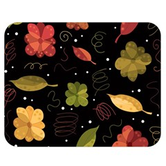 Autumn Flowers  Double Sided Flano Blanket (medium)  by Valentinaart