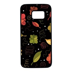 Autumn Flowers  Samsung Galaxy S7 Black Seamless Case by Valentinaart