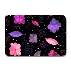 Purple And Pink Flowers  Plate Mats by Valentinaart