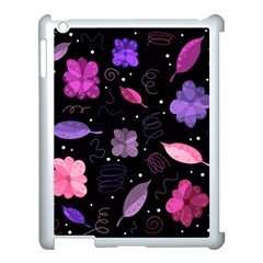 Purple And Pink Flowers  Apple Ipad 3/4 Case (white) by Valentinaart