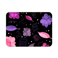 Purple And Pink Flowers  Double Sided Flano Blanket (mini)  by Valentinaart