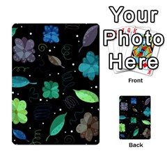 Blue And Green Flowers  Multi Purpose Cards (rectangle)
