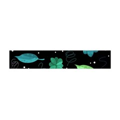 Blue And Green Flowers  Flano Scarf (mini) by Valentinaart