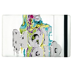 Hot Air Typography Apple Ipad 2 Flip Case by Onesevenart