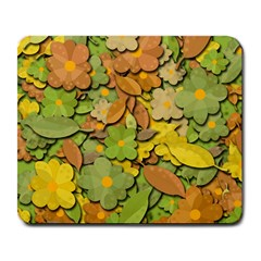 Autumn Flowers Large Mousepads by Valentinaart