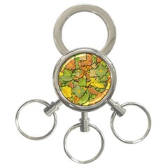Autumn Flowers 3 Ring Key Chains by Valentinaart
