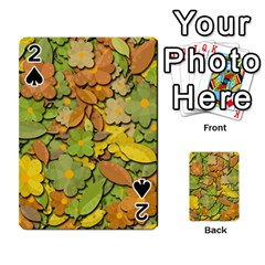 Autumn Flowers Playing Cards 54 Designs  by Valentinaart
