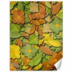 Autumn Flowers Canvas 36  X 48   by Valentinaart