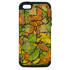 Autumn Flowers Apple Iphone 5 Hardshell Case (pc+silicone) by Valentinaart