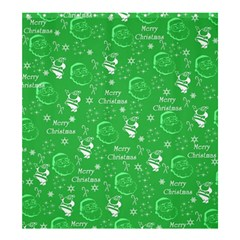 Santa Christmas Collage Green Background Shower Curtain 66  X 72  (large)  by Onesevenart