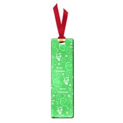 Santa Christmas Collage Green Background Small Book Marks by Onesevenart