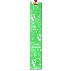 Santa Christmas Collage Green Background Large Book Marks by Onesevenart