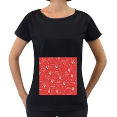 Santa Christmas Collage Women s Loose-Fit T-Shirt (Black) by Onesevenart