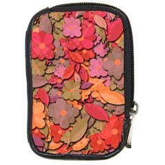 Beautiful Floral Design Compact Camera Cases by Valentinaart