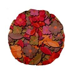 Beautiful Floral Design Standard 15  Premium Round Cushions by Valentinaart