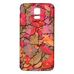 Beautiful Floral Design Samsung Galaxy S5 Back Case (white) by Valentinaart