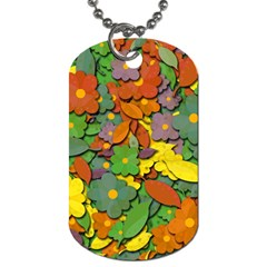 Decorative Flowers Dog Tag (two Sides) by Valentinaart