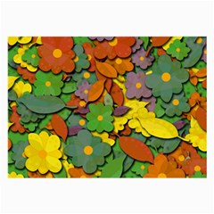 Decorative Flowers Large Glasses Cloth (2 Side) by Valentinaart