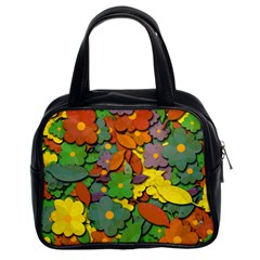 Decorative Flowers Classic Handbags (2 Sides) by Valentinaart