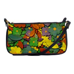 Decorative Flowers Shoulder Clutch Bags by Valentinaart
